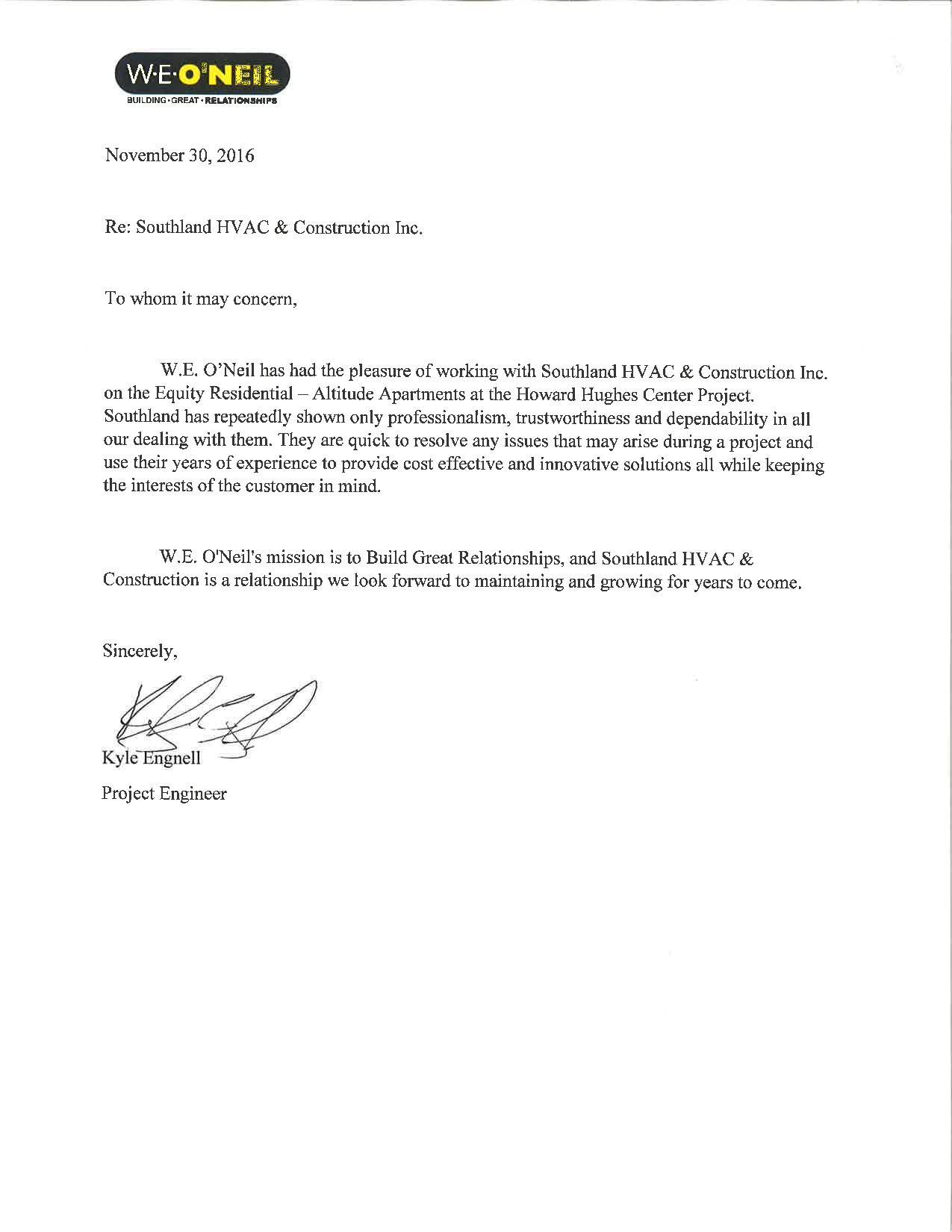 Testimonials Southland Hvac